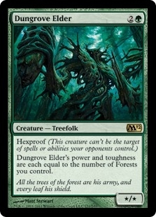 Magic the Gathering 2012 Single Dungrove Elder Foil - Near Mint