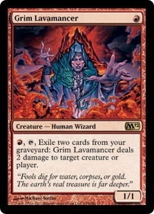 Magic the Gathering 2012 Single Grim Lavamancer  UNPLAYED (NM/MT)