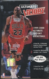 1999/00 Upper Deck Ultimate Victory Basketball 24-Pack Box