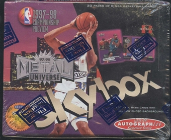 1997/98 Skybox Metal Championship Preview Basketball Retail Box