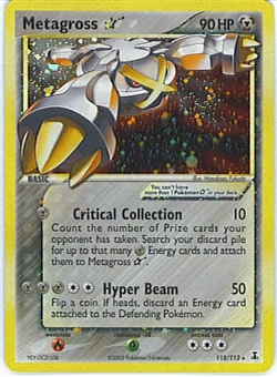 Pokemon Delta Species Single Metagross 113/113 Gold Star