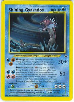 Pokemon Neo Revelations Single Shining Gyarados 65/64 - MODERATE PLAY (MP)