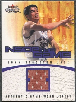 2001/02 Fleer Force Basketball John Stockton Jersey #182/399
