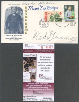 First Day Cover Signed by Multiple HOF's Red Grange JSA *20307