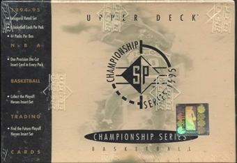 1995/96 Upper Deck SP Championship Basketball Hobby Box