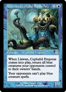 Magic the Gathering Torment Single Llawan, Cephalid Empress - MODERATE PLAY (MP)