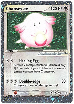 Pokemon Ruby & Sapphire Single Chansey ex 96/109 - NEAR MINT (NM)