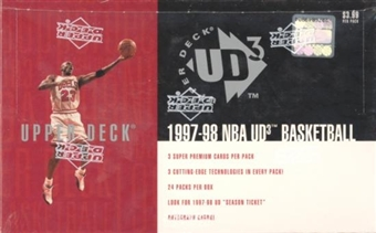 1997/98 Upper Deck UD3 Basketball Hobby Box