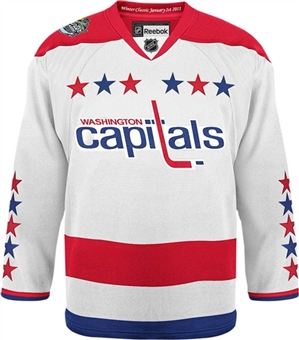 Washington Capitals 2011 Winter Classic Reebok Edge White Authentic Jersey (Size 46)