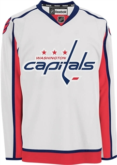 Washington Capitals Reebok Edge White Authentic Jersey (Size 52)