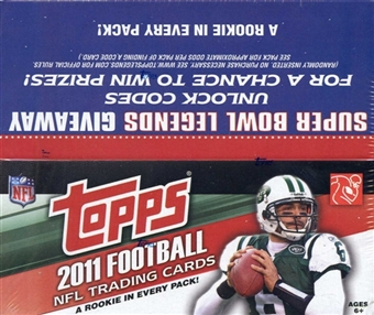 2011 Topps Football Retail 24-Pack Box