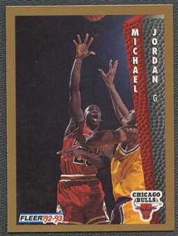 1992/93 Fleer Basketball #7 Michael Jordan