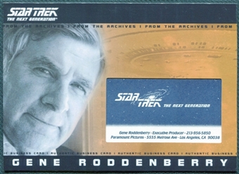 2011 The Complete Star Trek The Next Generation #GR Gene Roddenberry Business Card /350