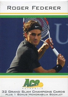 2011 Ace Tennis Roger Federer Grand Slam Hobby Box (Set)