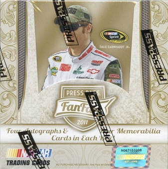 2011 Press Pass Fanfare Racing Hobby Box