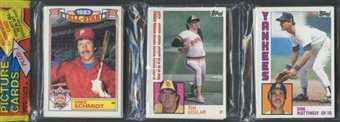 1984 Topps Baseball Rack Pack (Don Mattingly On Top)