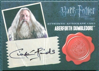 2011 Harry Potter and the Deathly Hallows Part Two Autographs #4 Ciaran Hinds as Aberforth Dumbledore