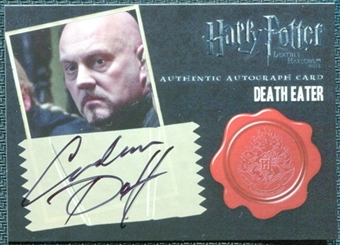 2011 Harry Potter and the Deathly Hallows Part Two Autographs #9 Graham Duff as Death Eater
