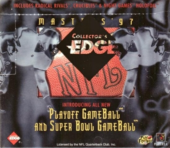 1997 Collector's Edge Masters Football Hobby Box