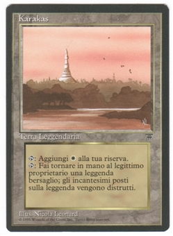 Magic the Gathering Legends Single Karakas Italian - SLIGHT PLAY (SP)