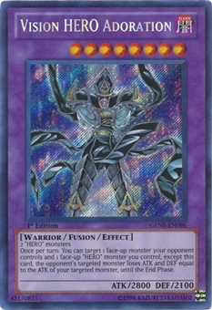 Yu-Gi-Oh Generation Force Single Vision HERO Adoration Secret Rare