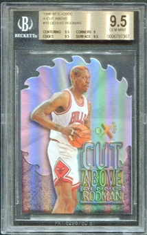 1996/97 E-X2000 A Cut Above #10 Dennis Rodman BGS 9.5 GEM MINT *7367