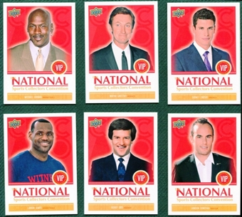 2011 Upper Deck National Convention 6 Card Exclusive VIP Set