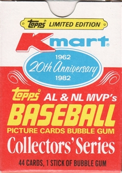 1982 Topps Baseball K-Mart 20th Anniversary MVP's Set Box