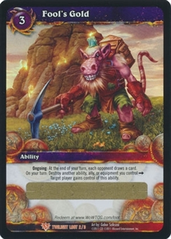 WoW Twilight of the Dragons Single Fool's Gold Unscratched Loot Card