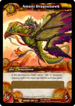 WoW Twilight of the Dragons Single Amani Dragonhawk Loot Card