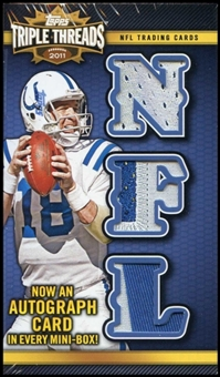 2011 Topps Triple Threads Football Hobby Mini Box