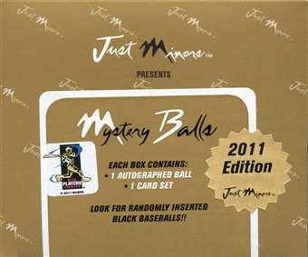 2011 Just Minors Mystery Balls Baseball Hobby Box