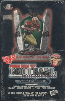 1997 Press Pass Football Hobby Box