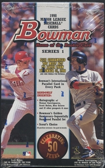 1998 Bowman Series 1 Baseball Retail Box
