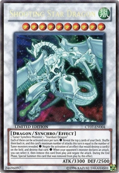 Yu-Gi-Oh Limited Edition Tin Single Shooting Star Dragon Secret Rare CT07 - SLIGHT PLAY (SP)