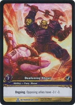 WoW Archives Single Deafening Shout Extended Art Foil