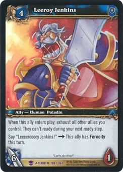WoW Archives Single Leeroy Jenkins NM/MT Foil