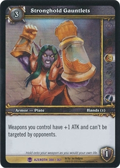 WoW Archives Single Stronghold Gauntlets NM/MT Foil