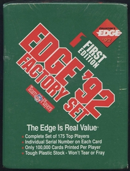 1992 Collector's Edge First Edition Football Factory Set