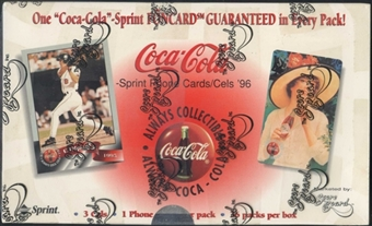 Coca Cola Sprint Phone Card Box (1996 Scoreboard)