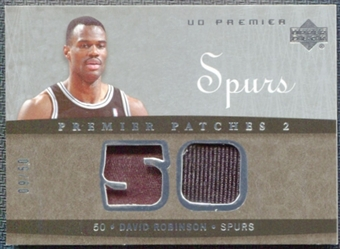 2007/08 Upper Deck Premier Patches Dual Silver #DR David Robinson 9/50