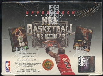 1992/93 Upper Deck Hi # Basketball Jumbo Box