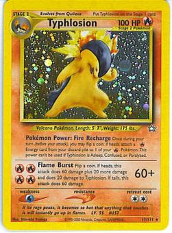 Pokemon Neo Genesis Single Typhlosion 17/111