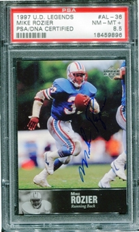 1997 Upper Deck Legends Autographs #AL36 Mike Rozier PSA 8.5 NM-MT+ *9896