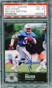 1997 Upper Deck Legends Autographs #AL36 Mike Rozier PSA 8 NM-MT *9898