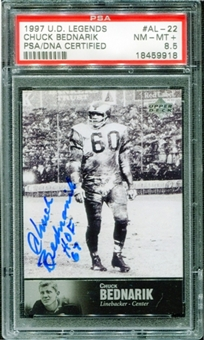 1997 Upper Deck Legends Autographs #AL22 Chuck Bednarik PSA 8.5 NM-MT+ *9918
