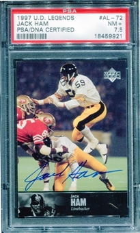 1997 Upper Deck Legends Autographs #AL72 Jack Ham PSA 7.5 NM+ *9921