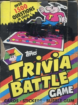 Trivia Battle Game Wax Box (1984 Topps)