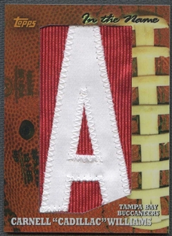 "2005 Topps Football Cadillac Williams Rookie Letter ""A"" Patch #1/1"