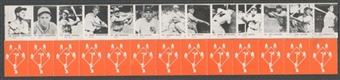 1950 R423 Strip of 13 (Slaughter, Feller, Speaker, DiMaggio)